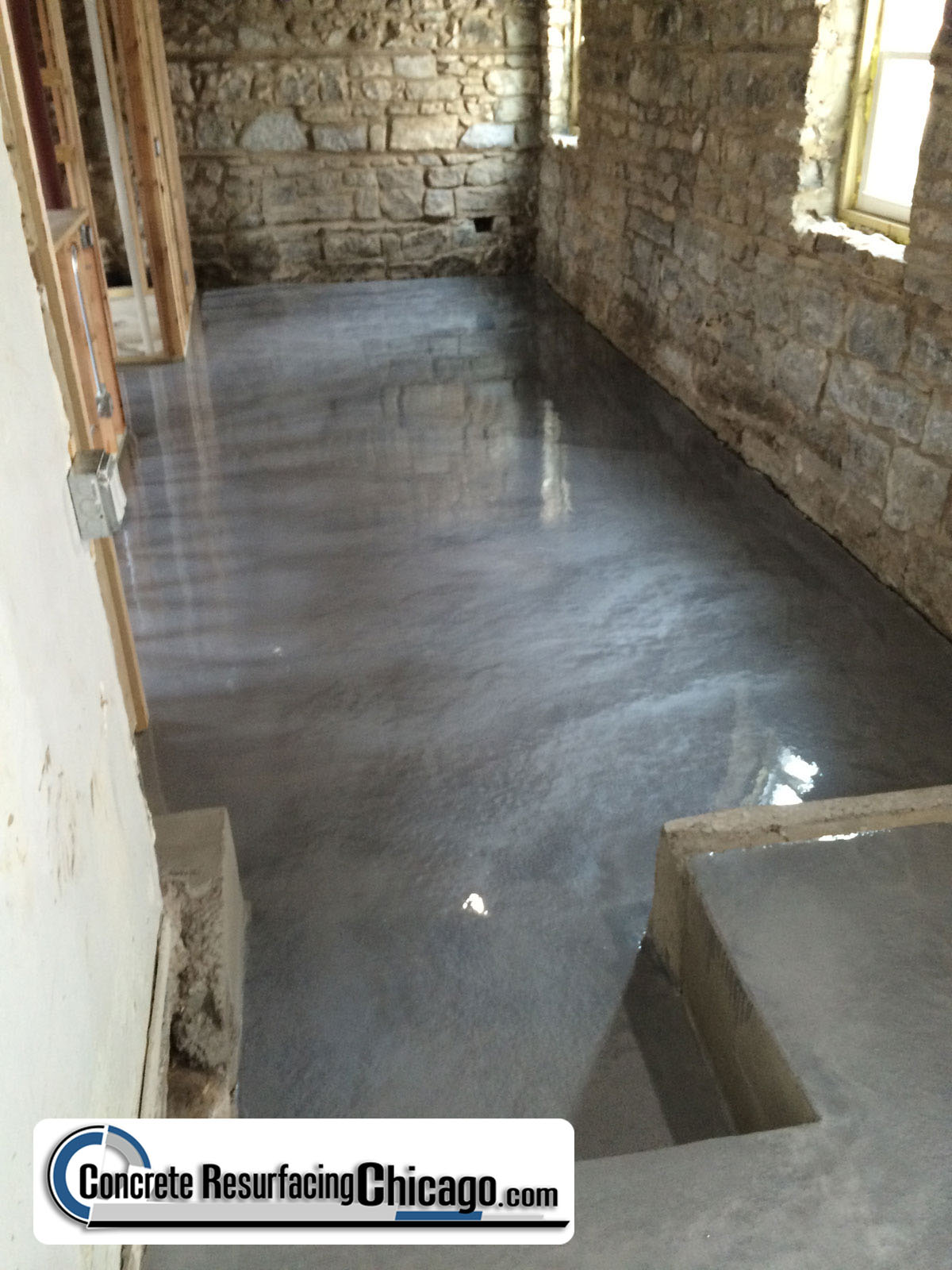630 448 0317 concrete resurfacing solutions inc uses of for Concrete floor refinishing