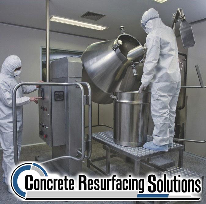 Quartz flooring by Concrete Resurfacing Solutions features slip resistant surfaces!