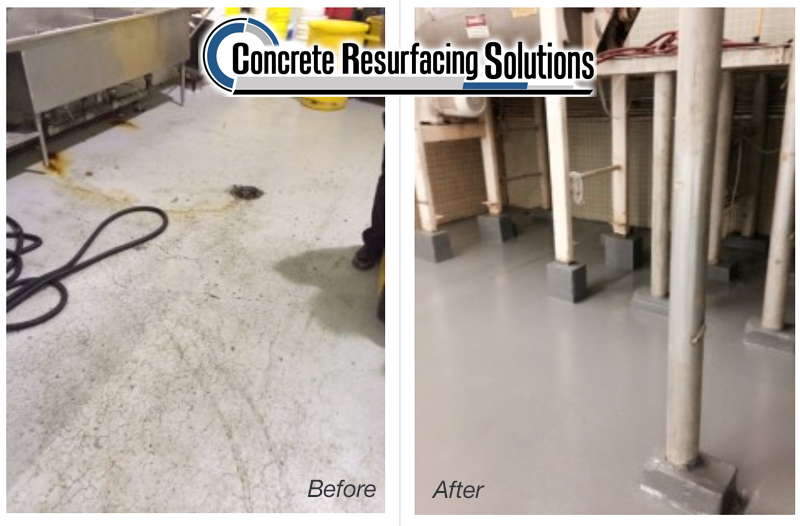 Concrete Resurfacing Solutions in Chicago installs polished concrete for  food and beverage facilities