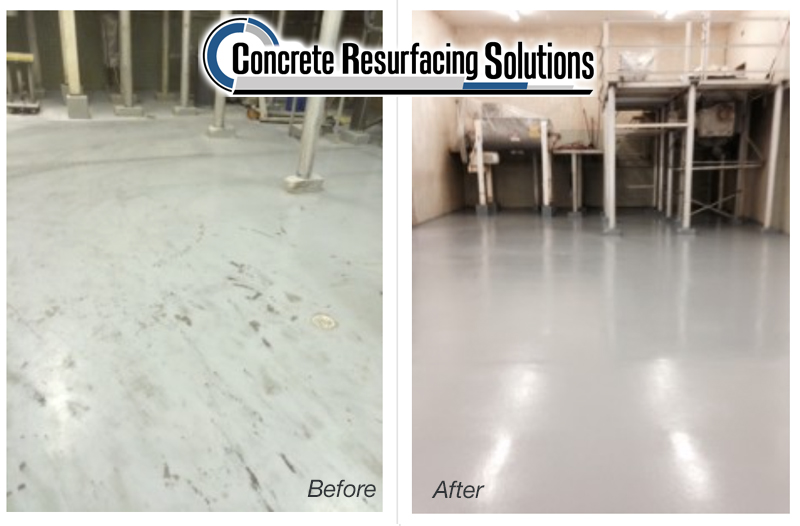 Concrete Resurfacing Solutions in Chicago has polished concrete for food and beverage facilities