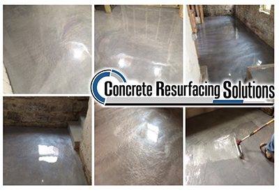 Chicago's Concrete Resurfacing Solutions installs premium quality epoxy coating in metallic finishes.