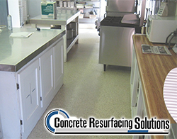 Slip resistant Quartz flooring by Concrete Resurfacing Solutions in Chicago, IL