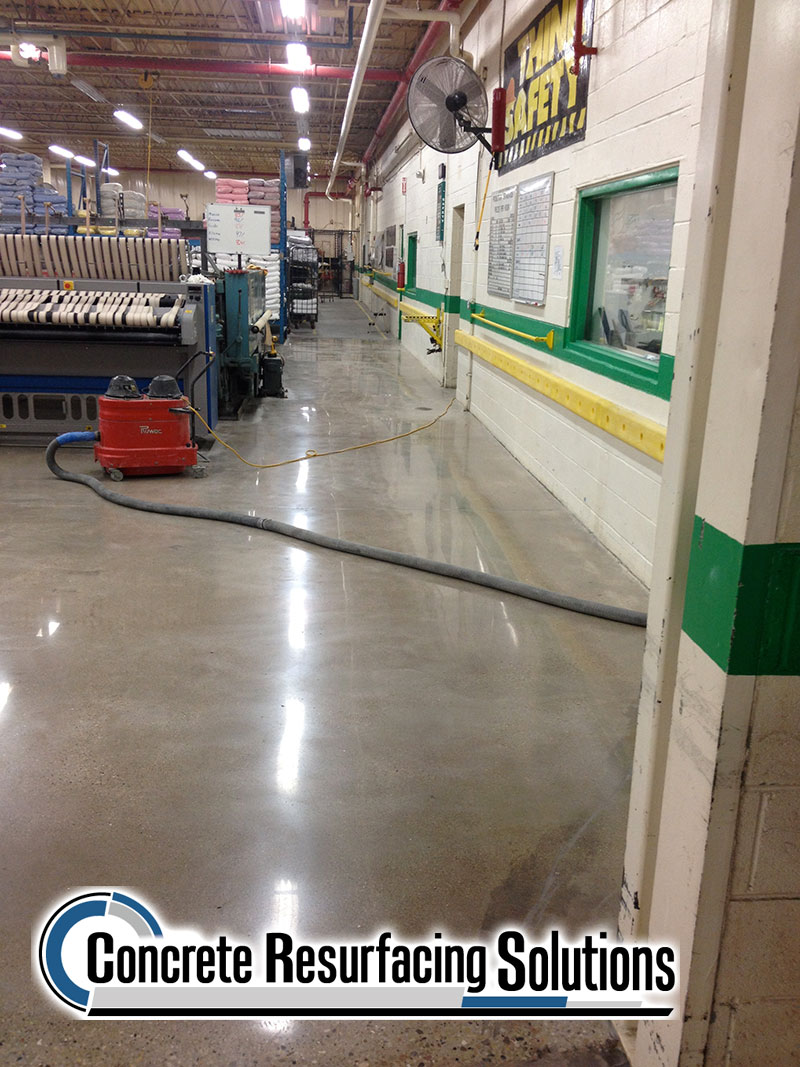 Concrete Resurfacing Solutions Chicago offers options of flake floor, quartz, metallic and more!