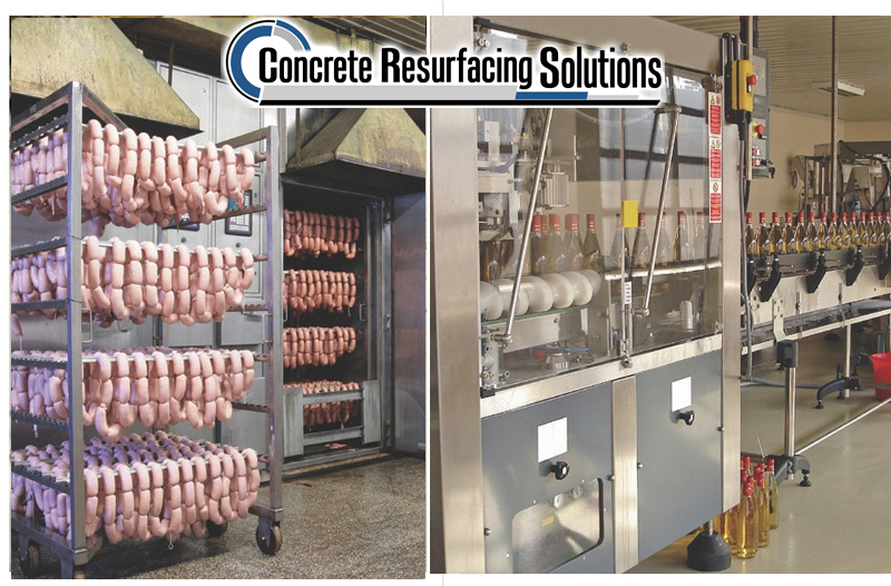 Concrete Resurfacing Solutions has polished concrete for extreme sanitation for food and beverage facilities.