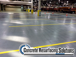 Concrete Resurfacing Solutions in Chicago can apply and hd epoxy finish that works for commercial parking lots, producing sealed concrete surfaces.