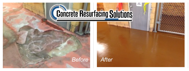 Before and after manufacturing by Concrete Resurfacing Solutions